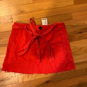 red denim urban outfitters skirts NWT